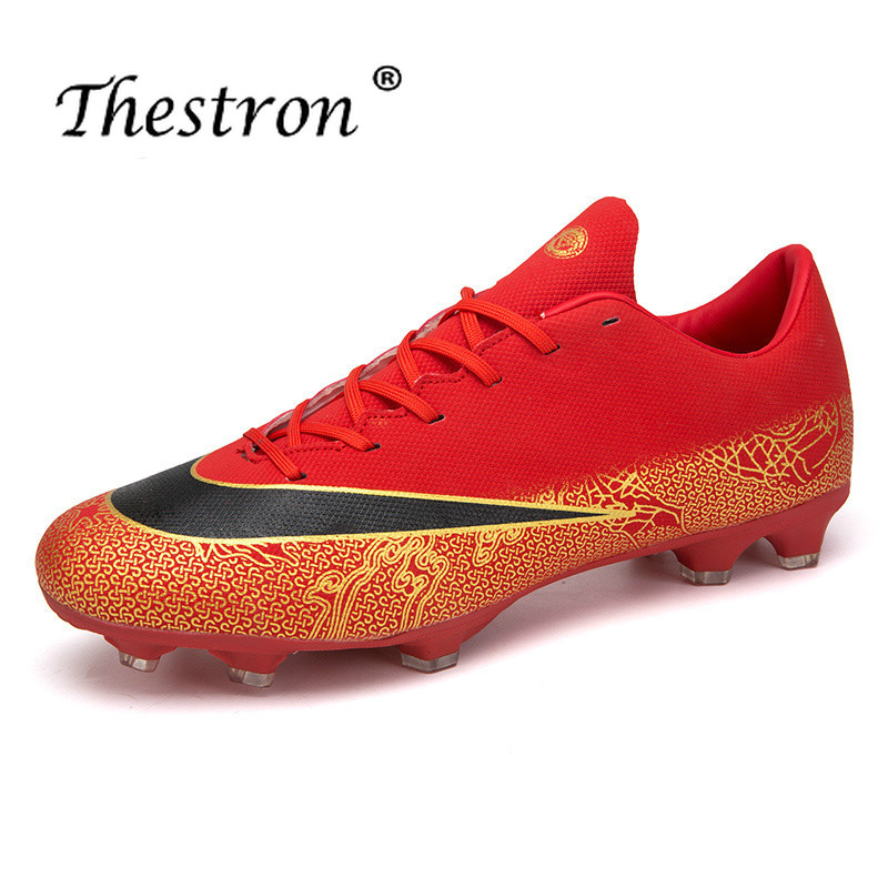 Thestron Mens Cleats Football Long Spike Football Boots Orange White Soccer Shoes For Artificial Turf Outdoor Soccer Shoes Men in Soccer Shoes from Sports Entertainment