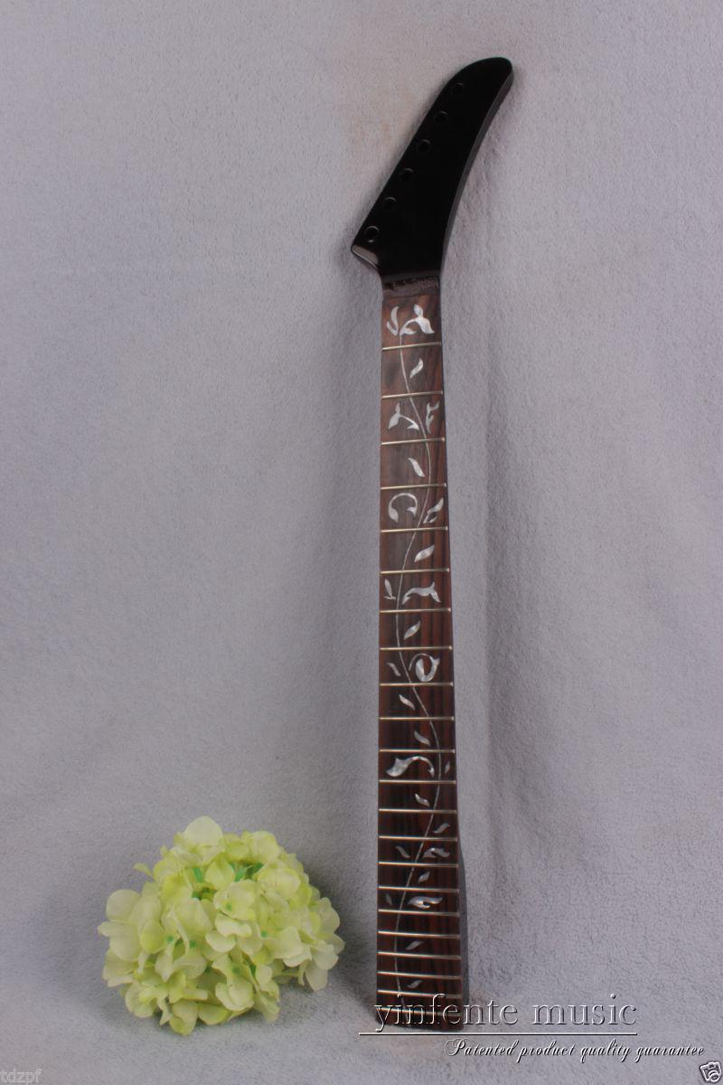 Electric guitar neck 22 fret 25.5 solid rose Fretboard Truss Rod black #890Electric guitar neck 22 fret 25.5 solid rose Fretboard Truss Rod black #890