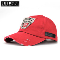 JEEP SPIRIT Brand Mens Caps Outdoor Hats Casual Cotton Letter Snapback Cap Vintage Hole Unisex Caps Baseball Cap Casquette Homme