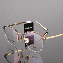 Титановые очки круглые Рецептурные очки для близоруких очков мужские/женские очки высокого качества двухцветные очки кошачий глаз 939