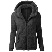 Женщины Теплая Зима Сгущает Руно Застегивать Пальто С Капюшоном Тонкий Куртка Пальто Hoddies
