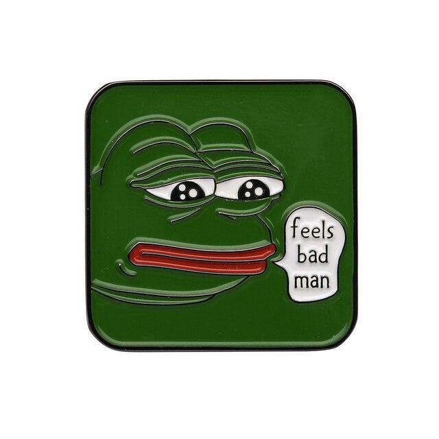 internet memes traurig pepe frosch revers pin fuhlt sich schlechte mann 4 chan kekistan dank traurig