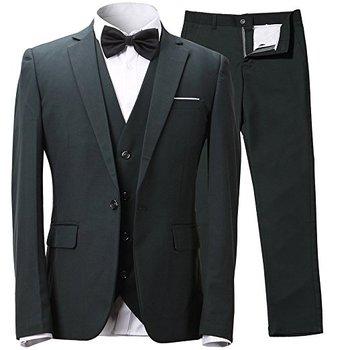 Custom Groom Suit Best Men Suits Black Groom Tuxedos Wedding Suits For Men Slim Fit One Button 3-Piece Jacket+Pants+Vest+BowTie