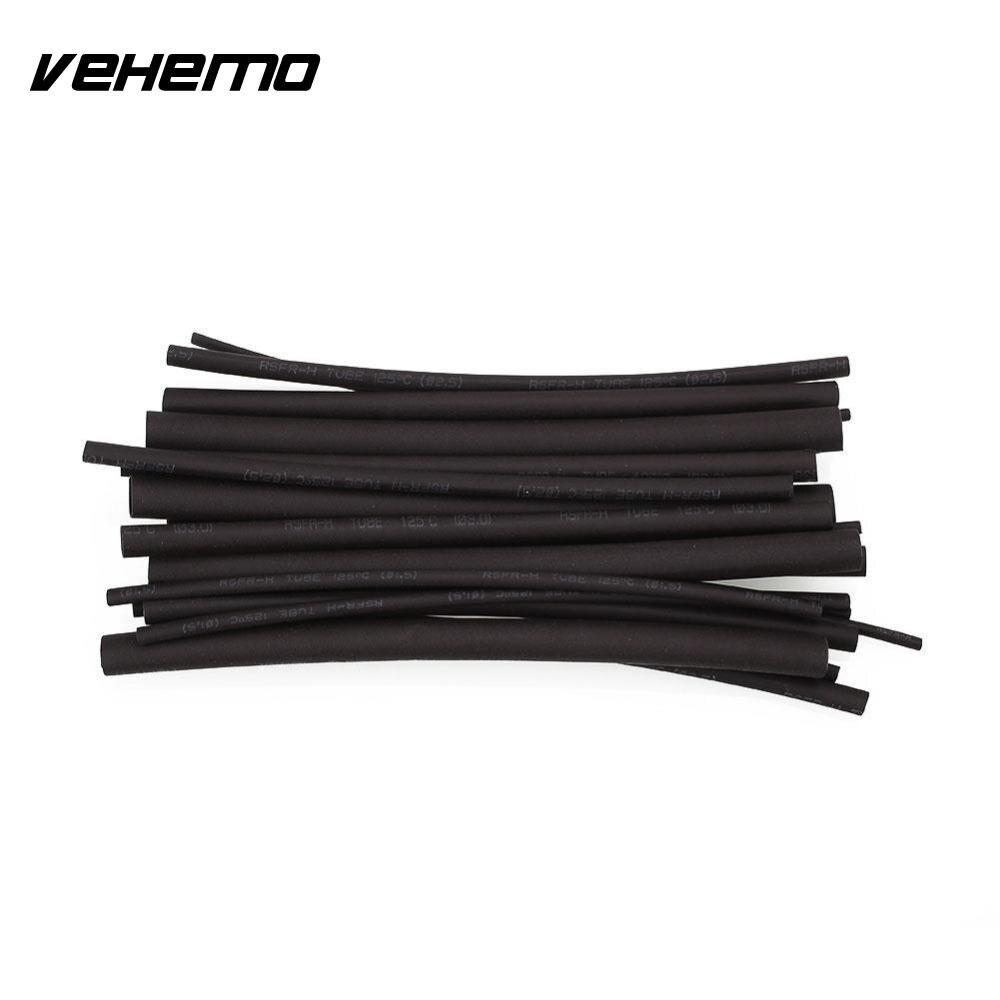 Vehemo 20pcs Black Heatshrink Heat Shrink Tube Assortment Wrap ...