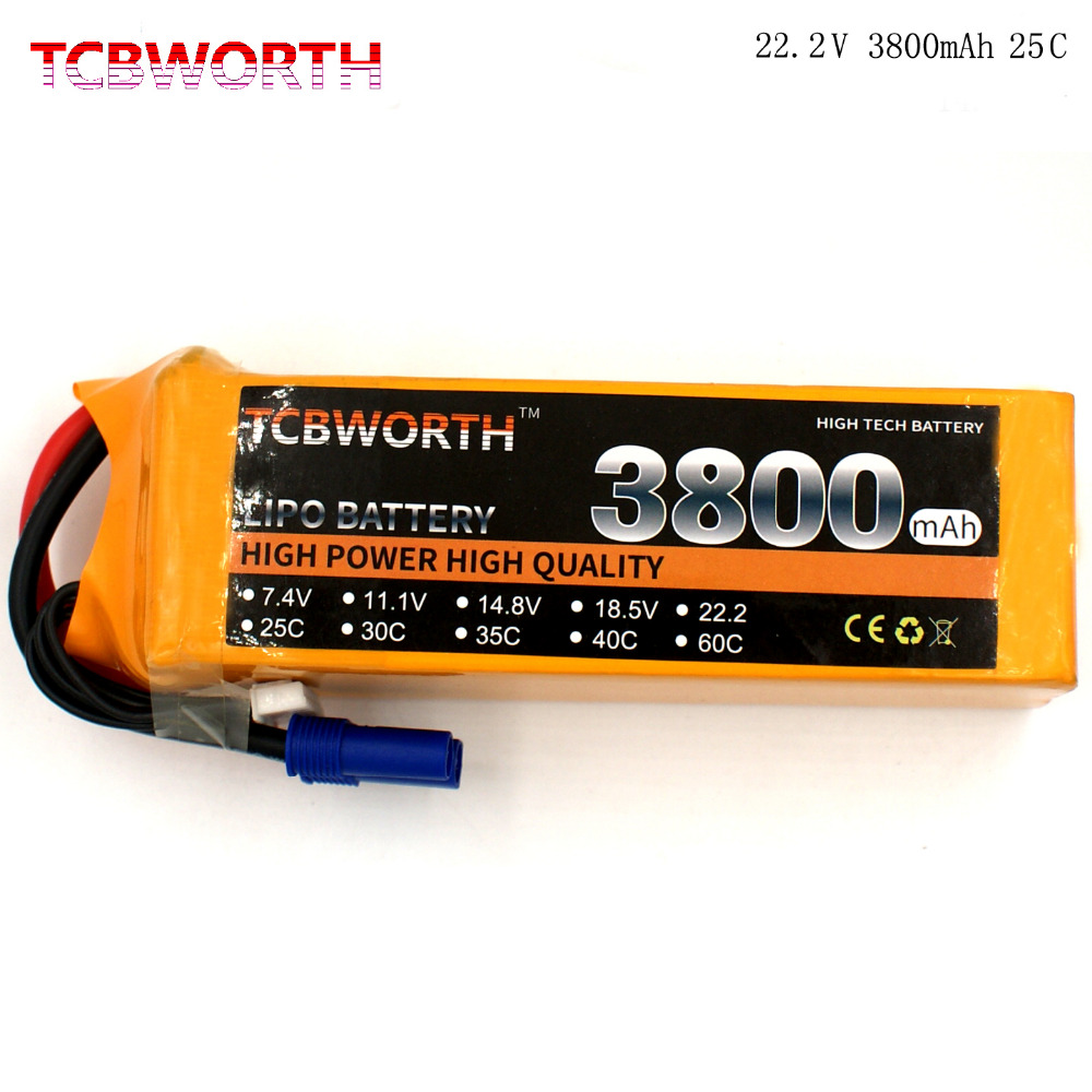 RC Helicopter LiPo battery 6S 22.2V 3800mAh 25C For RC Airplane Quadrotor Car boat Truck Li-ion battery rc airplane lipo battery 6s 22 2v 3800mah 35c max 70c for rc helicopter quadrotor car boat truck li ion battery