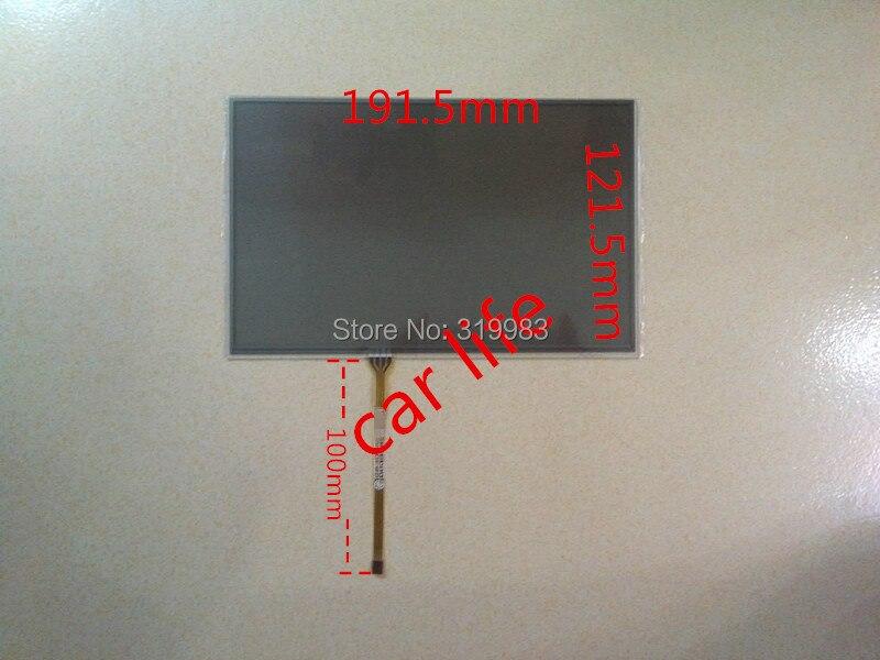 Оптовая продажа 10 шт. 191*121 192*122 мм 4 pin 8 дюймов черный стеклянный сенсорный экран дигитайзер объектив панель для автомобиля DVD плеер GPS навигац...