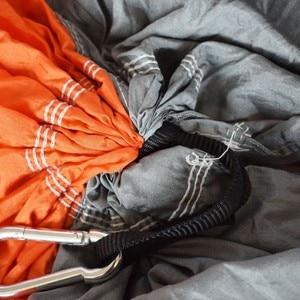 Image 5 - Paraşüt naylon kumaş çift Hamak örgü çadır geri dönüşümlü böcek sivrisinek ücretsiz Hamak salıncak Hamac asılı yatak dış mekan mobilyası