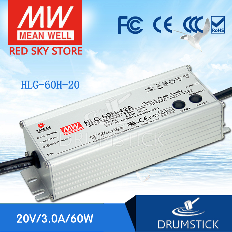 Advantages MEAN WELL HLG-60H-20 20V 3A meanwell HLG-60H 20V 60W Single Output LED Driver Power Supply