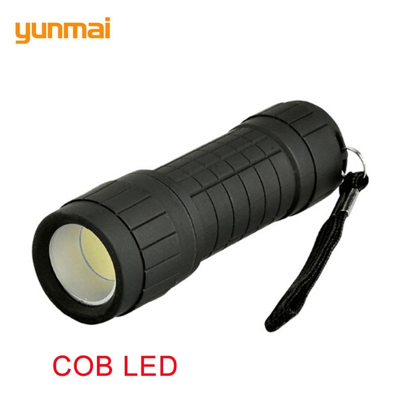 Small COB LED Flashlight Portable Powerful Mini Torch Camping Handy Searchlight Waterproof Lantern Lamp COB Light LED Spotlight