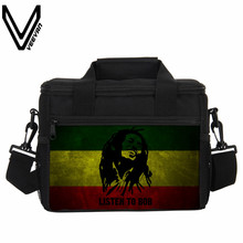 New Fashion Bob Marley Printing Men Lunch Bags Cooler Insulated Lunch Bags Women Lancheira Thermo Lunch Box Food Picnic Handbags
