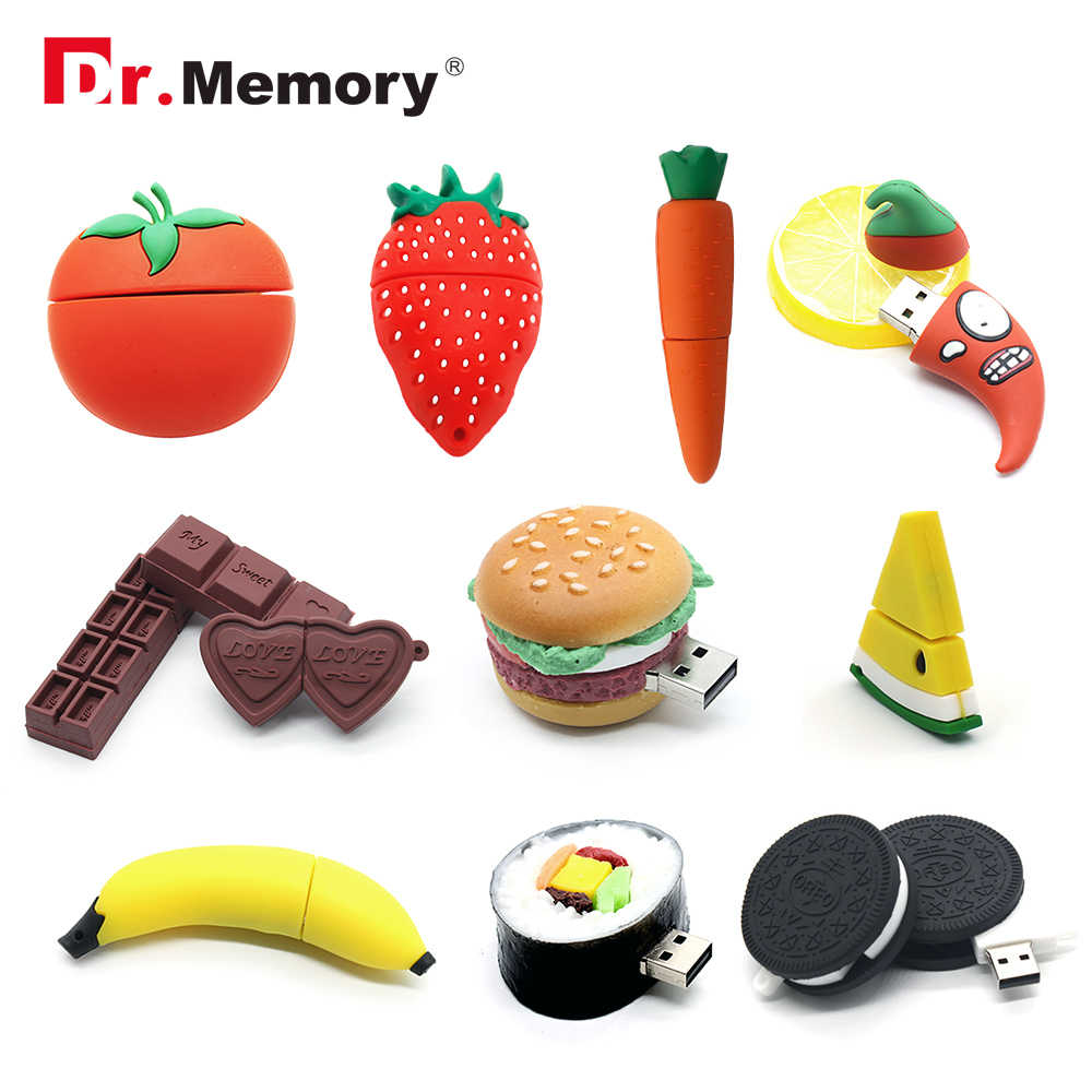 Cute USB Flash Drives 8GB Fruit Vegetable Chocolate Cookies Pendrive 32GB Personalized Creative Memory Stick 4GB 16GB Pen Drive