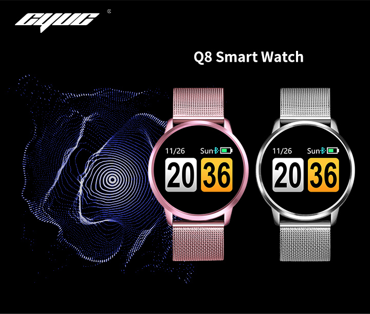 Q8 Montre intelligente OLED couleur