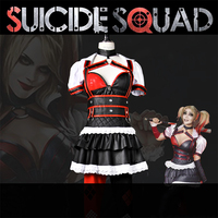 Suicide Squad Harleen Quinzel Harley Quinn PU Leather Classic Cos Suit Cosplay Costume Halloween Costume For