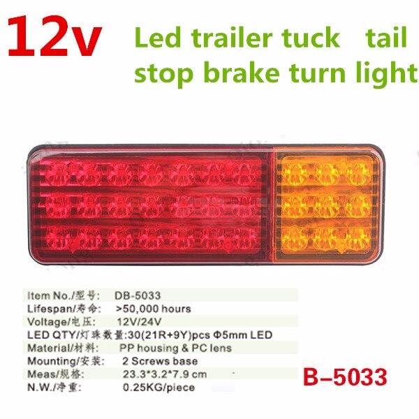 2x Mini Outline Side Marker LED Lights 12V Trailer Truck Chassis Caravan