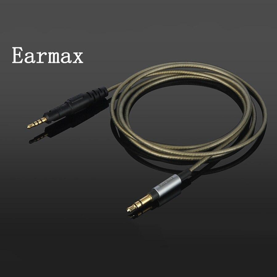 bilder für Für Audio-technica ATH-M50x ATH-M40x ATH-M70x Kopfhörer Verbesserte Silber Überzogene Ersatz 1,8 mt Verlängerung Fone De Ouvido Kabel