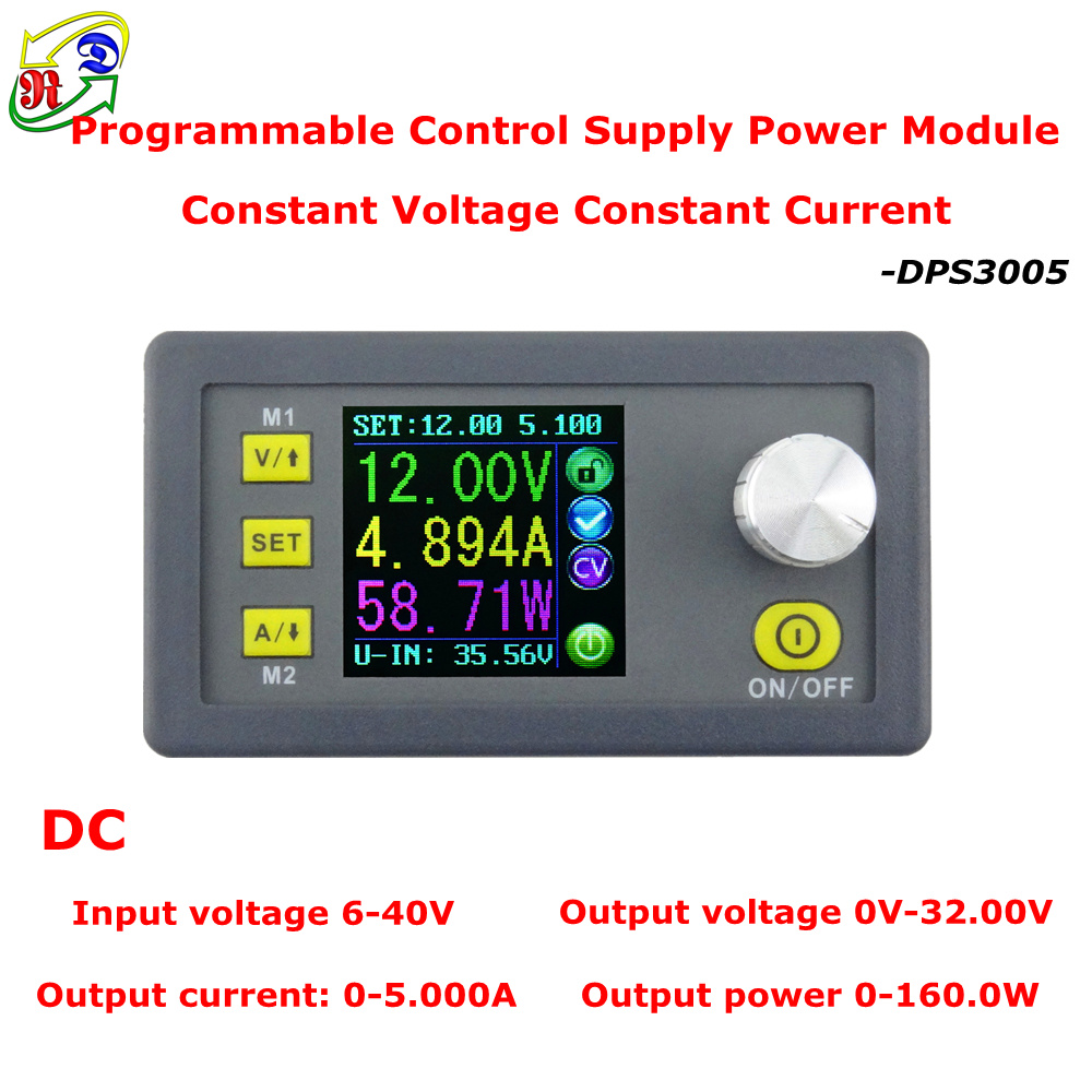 RD DPS3005 Constant Voltage current Step-down Programmable Power Supply module buck Voltage converter color LCD voltmeter