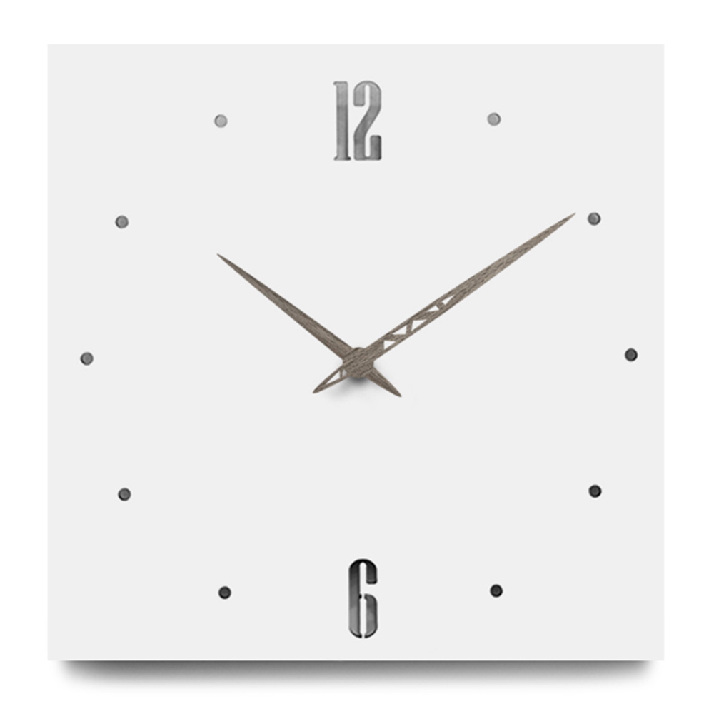 Nordic Style Fashionable Simple Silent Wall Clocks For Home Decor Pure White Type Wall Clock Quartz Modern Design Timer YC4898