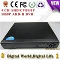 4CH AHD/CVBS/IP Цифровой видеорегистратор DVR HVR NVR AHD поддержка аналоговых cctv/ahd/1080 P ip-камера строить системы наблюдения