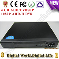 4CH AHD/CVBS/IP Digital video recorder DVR HVR NVR AHD support cctv analog/ahd/1080p ip Camera build surveillance system
