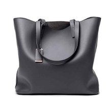 Women's Tote Large Capacity Women Shoulder Bag Classic Casual Tote bags Top-Handle Bucket Bag Simple Style Lady Solid Totes Bag women casual large capacity totes versatile floral print canvas casual tote pocket simple retro shoulder bag for women 2019