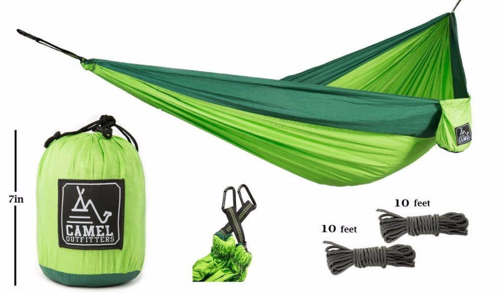 US $46 0  Outfitters XL Double Nylon Parachute Camping Hammock Lightweight  Portable with Max 1000 lbs Capacity Best for Backpacking Hiking-in Tent