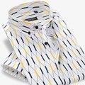 2017 homens Verão Contraste Argyle Xadrez de manga Curta Camisas Casual 100% Algodão Soft Comfort Slim-fit Botão-para baixo Camisas de Vestido