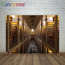 Funnytree Luxuoso decoração fundos para estúdio de fotografia cenário biblioteca photocall