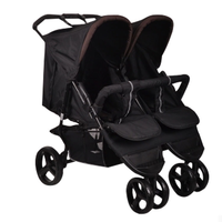 European and American Style Luxury Double Baby Stroller for Twins Can Sit Lie Shock Absorbing Twin Baby Stroller Umbrella Car