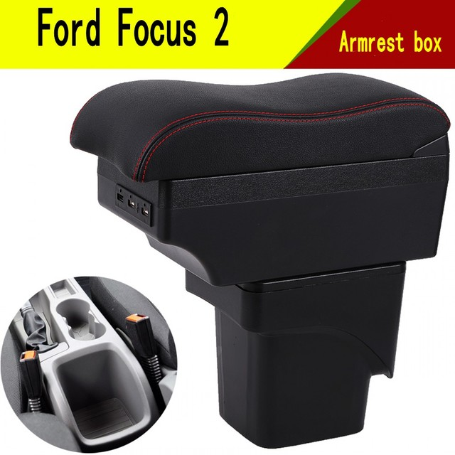 For Ford Focus 2 armrest box central Store mk2 content box products interior Armrest Storage car styling accessories parts