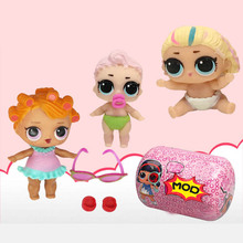1 pcs LoL capsule Doll Unpacking High-quality Dolls Baby Tear Open Color Change Egg Doll LoL Action Figure Toys Kids Gift
