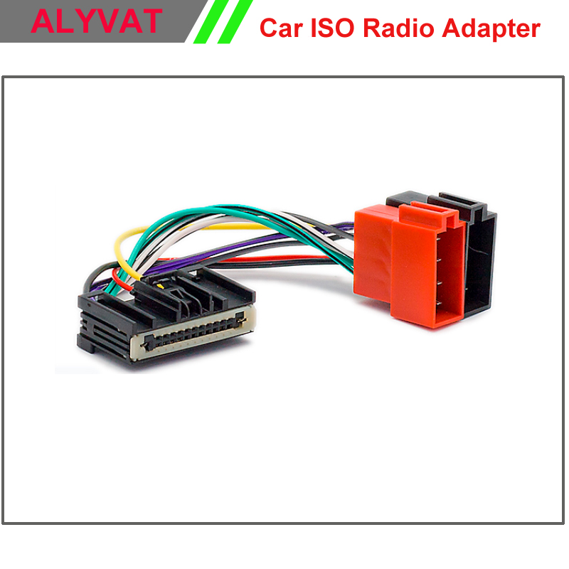 Car ISO Radio <font><b>Adapter</b></font> Connector For Ford Focus <font><b>2011</b></font>+ Fiesta C-Max 2010+ Wiring Harness Auto Stereo Adaptor Power Cable Plug Wire image