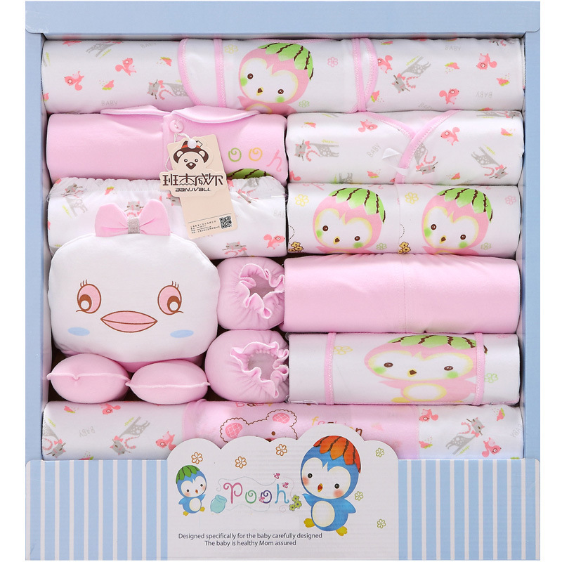 2018 New Pattern Spring And Summer Newborn Gift Box 18 Paper Set Pure Cotton Baby Clothes Baby Full Moon Primary Baby Suit cotton 10 piece sets newborn clothes gift box spring and autumn new born baby suit mother and baby full moon kids gift clothes