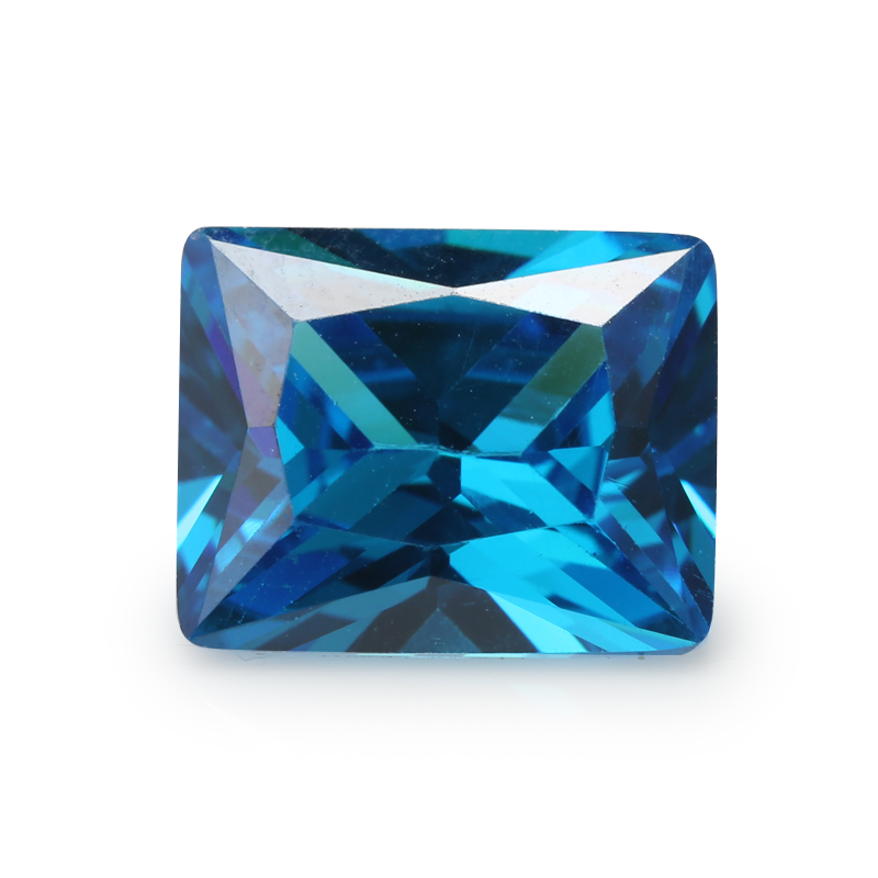 Beads & Jewelry Making Aggressive 50pcs 2x4~13x18mm Rectangle Princess Cut Aaaaa Dark Sea Blue Loose Cubic Zirconia Gems Cz Stone For Jewelry Diy Stone We Have Won Praise From Customers Beads
