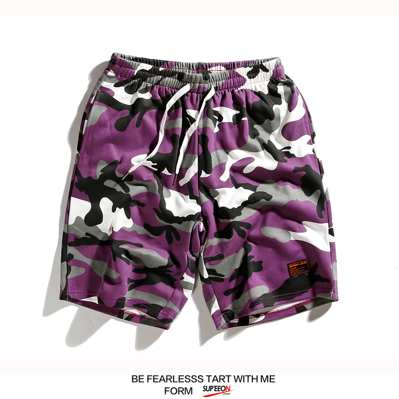 Streetwear Mens Camo Shorts Cargo Cotton Summer Sweatpants Short Elastic Fashion Pocket Staff Shorts Men Casual Sweatpants S6T52