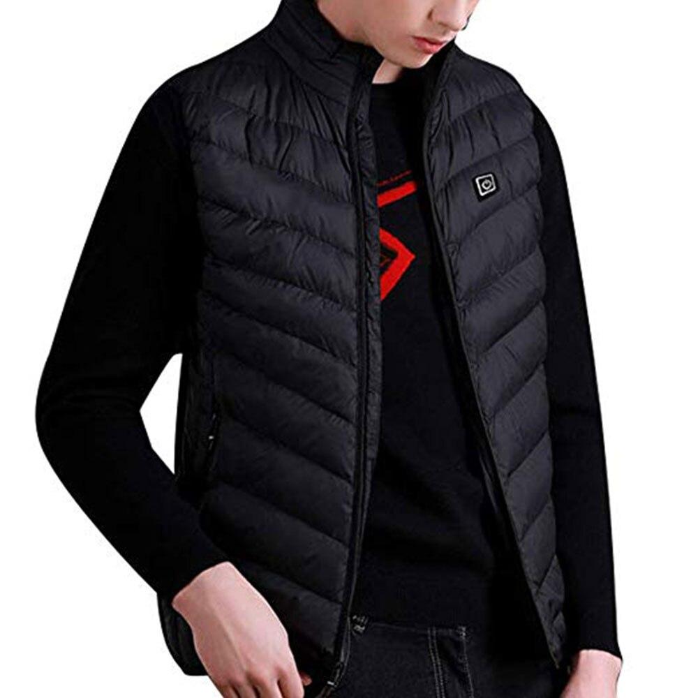 Горячий жилет с электроподогревом куртка с подогревом Pad без рукавов 5-12 v вниз хлопок USB одежда
