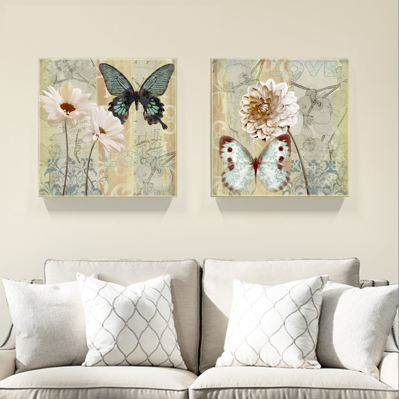 Buy 2pieces butterfly modern wall art for Buy canvas wall art