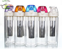 Multi Colored Heat Resistant Double Wall Glass Tea Tumbler W Infuser 9fl Oz 270ml Healthy Travel