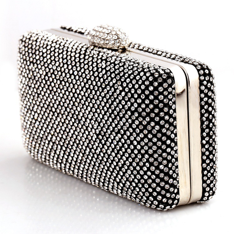 Bamboo Charm Fashion Solid Crystal Womens Evening Party Wedding Clutch Pouch Casual Flap Handbag Crossbody Messenger Envelope