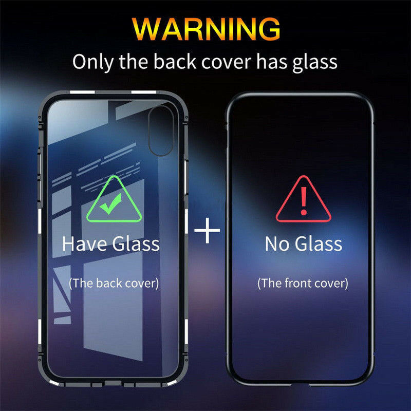 cell phone 360 shockproof metal bumper tempered Glass magnetic Adsorption for xiaomi 8se in Flip Cases from Cellphones Telecommunications
