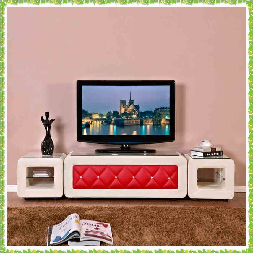 Korea style black driling leather TV stands hot selling-in TV Stands ...
