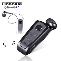 Wireless Bluetooth Headphone FineBlue F910 Calls Remind Vibration Headset With Collar Clip For IPhone Samsung Handfree