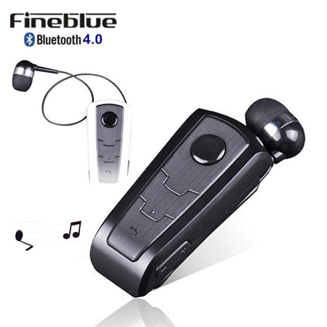 Auricular bluetooth inalámbrico fineblue f910 llamadas recuerdan vibración auricular con clip collar para iphone samsung manos libres de llamadas