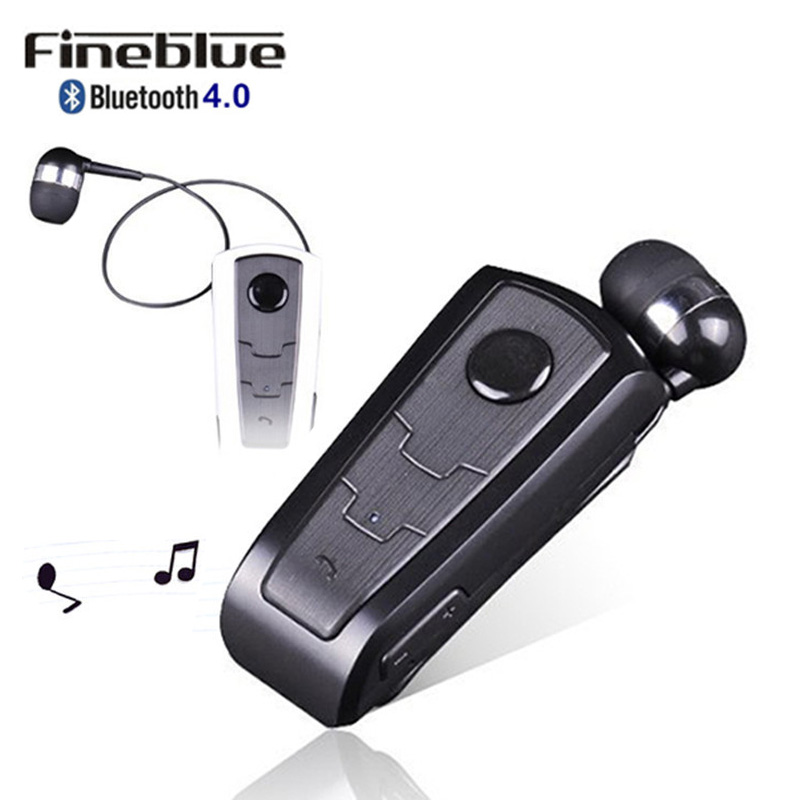 Wireless Bluetooth Earphone FineBlue F910 Calls Remind Vibration Headset with Collar Clip for Xiaomi Smart Phone Handfree Call