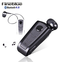 Wireless Bluetooth font b Earphone b font FineBlue F910 Calls Remind Vibration Headset with Collar Clip