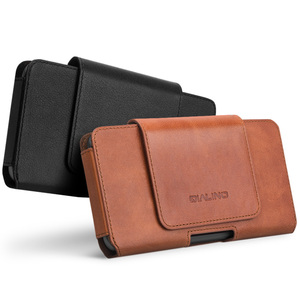 Image 1 - QIALINO mode affaires Style téléphone sac couverture pour Apple pour iPhone X luxe en cuir véritable Simple étui pour iPhone 5.8
