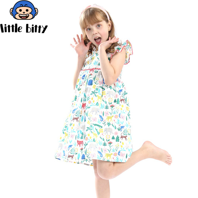 1babac2c00186 US $18.4 |Vestidos Girls Summer Dress 2018 Brand Animal Unicorn Princess  Dress Children Costume for Kids Clothes Baby Dress Dropshipping-in Dresses  ...