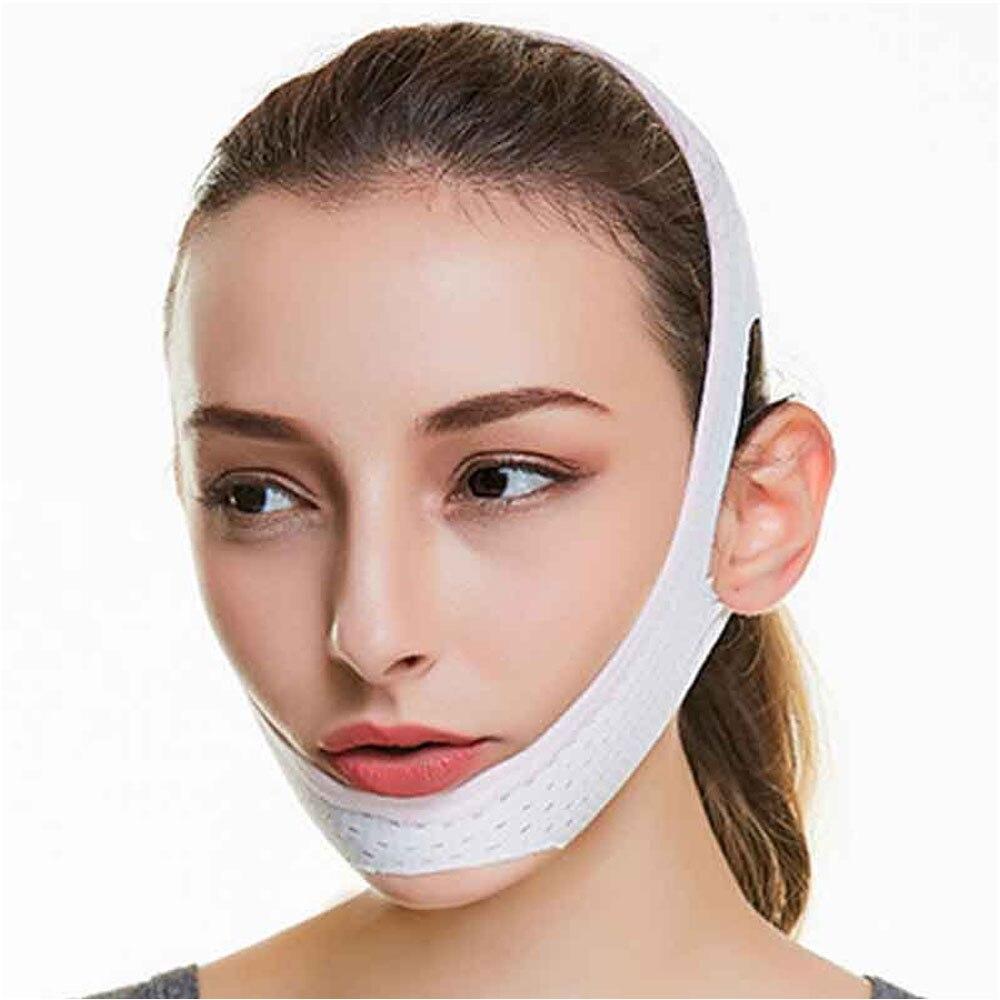 1Pcs V Line Facial Mask Chin Neck Belt Sheet Anti Aging Face Lift Up Chin Cheek Slim Lift Up Anti Wrinkle Mask