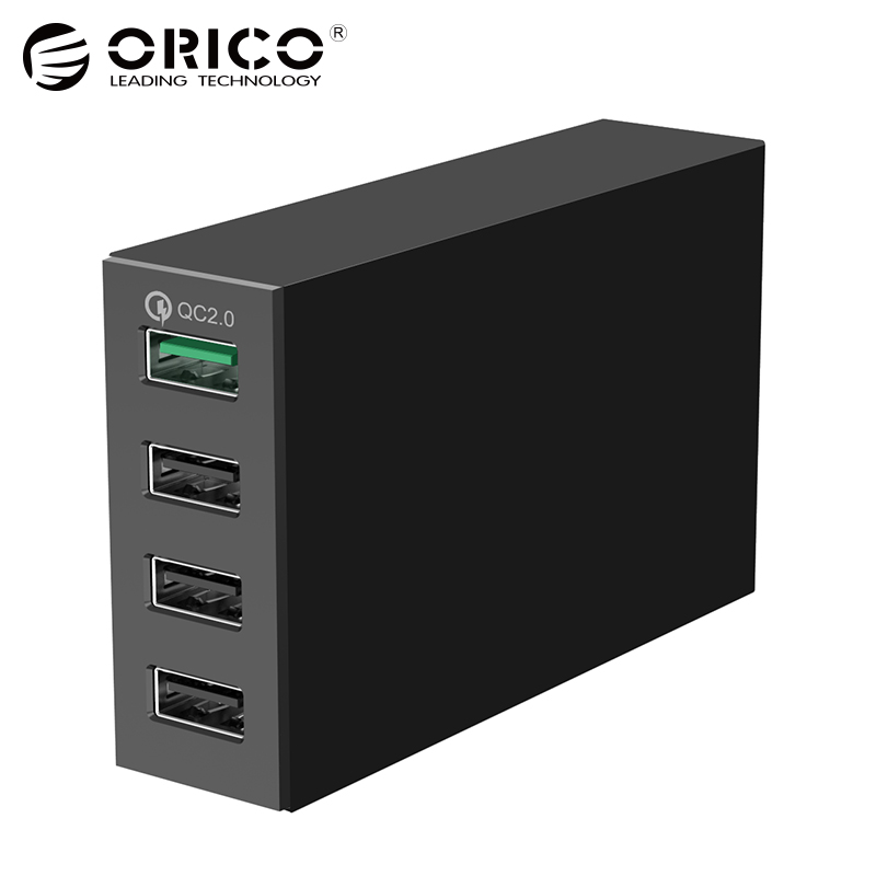 ORICO USB Quick Charger 2.0 5V2.4A 9V2A 12V1.5A 4-Port Quick Charger Smart Phone Charger for iPhone Samsung Nexus Xiaomi