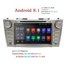 """Android 8.1 Quad Core 8 """"Lettore DVD Dell'automobile Per Toyota Camry 2008-2011 GPS Navi di Supporto dab + SD/USB di Tocco Dello Schermo di Radio mp3 Bluetooth"""