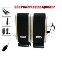 BEESCLOVER-Altavoces con cable USB para PC, ordenador portátil, 6W, USB 2,0, potencia USB, estéreo, Jack de Audio de 3,5mm, r57